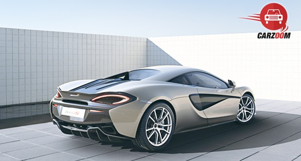 McLaren 570S Coupe Back and Side View