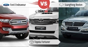 Comparison of Toyota Fortuner vs Ford Endeavour vs SsangYong Rexton