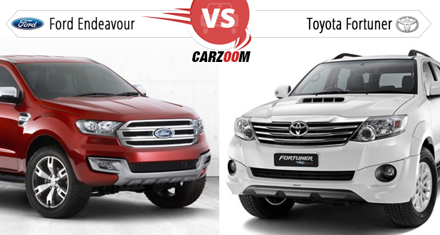 New Ford Endeavour vs Toyota Fortuner