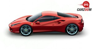 Ferrari 488 GTB Side View