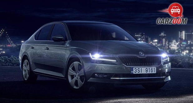 New Gen Skoda Superb Front View