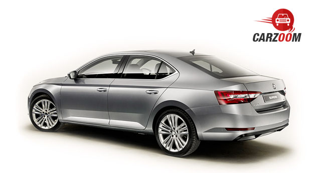 New Gen Skoda Superb Side View