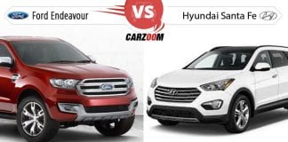 Compare New Ford Endeavour vs Hyundai Santa Fe