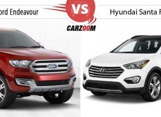 Compare New Ford Endeavour vs Hyundai Santa Fe