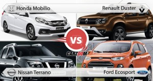 Honda Mobilio vs Renault Duster, Nissan Terrano & Ford EcoSport