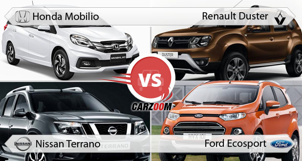 Honda Mobilio vs Renault Duster, Nissan Terrano & Ford EcoSport