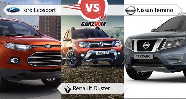 Ford EcoSport vs Renault Duster vs Nissan Terrano