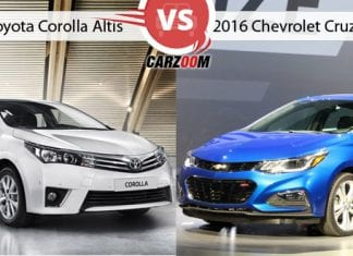 New Toyota Corolla Altis Vs Chevrolet Cruze