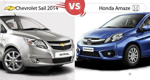 Honda Amaze versus Chevrolet Sail 2014