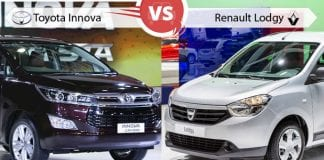 Comparison of Toyota Innova Crysta vs Renault Lodgy