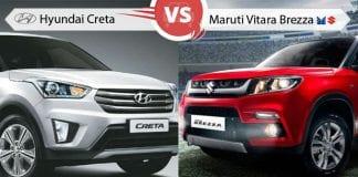 Hyundai Creta vs Maruti Vitara Brezza