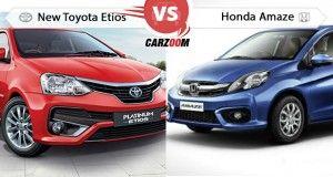 Toyota Etios vs Honda Amaze