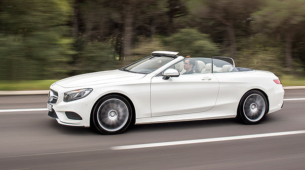 Mercedes-Benz S500 Cabriolet Side View