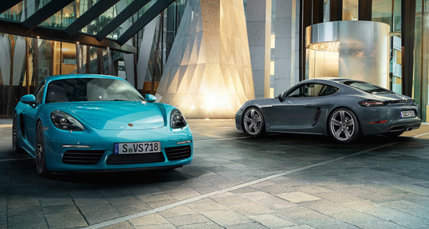 Porsche 718 Boxster and Cayman Front