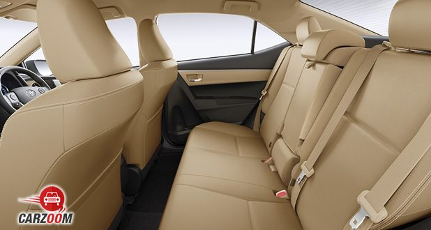 Corolla altis 2017 seats