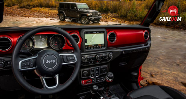 Jeep Wrangler steering wheel