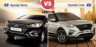 Hyundai Verna Vs Hyundai Creta
