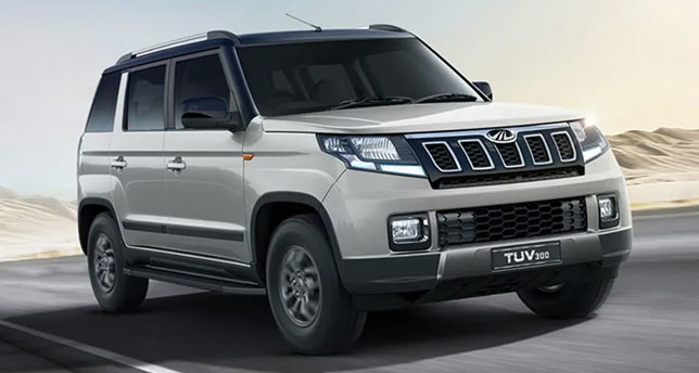 Mahindra-TUV300-Front-and-Side-View
