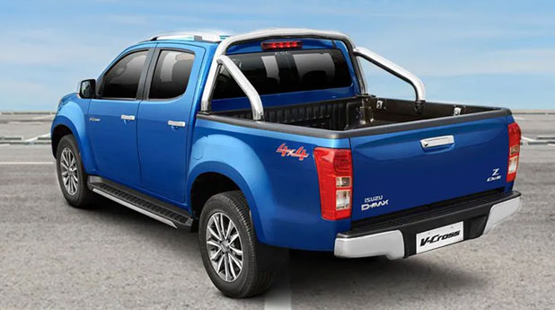 Isuzu-D-Max-V-Cross-Side-and-Back-View