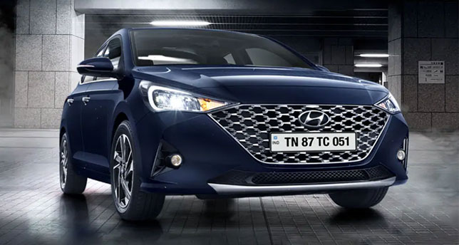 Hyundai-Verna-Front-View-and-side-view