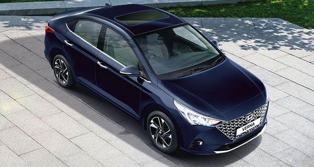Hyundai-Verna-Top-and-Front-View